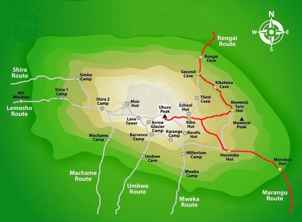 Kilimanjaro Climb best routes