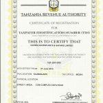 Karibu Adventures Certificates
