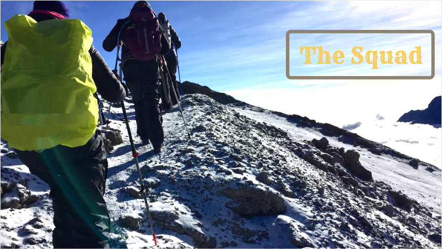 Climbing Mount Kilimanjaro Squad